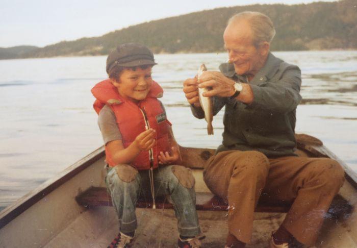 bestefar og jeg